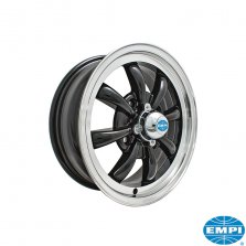 8 Spoke Svart 5.5 x 15 - ET35 - 4/130 vw T1