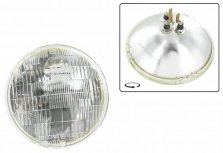 Strålkastare ''sealed beam 7tum'' 6v USA (ej E-märkt) Ø 178 mm